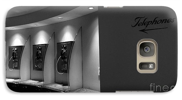 Galaxy Case featuring the photograph Telephones On Wall by Nina Prommer