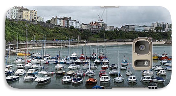 Galaxy Case featuring the photograph Tenby Harbour Panorama by Steve Purnell