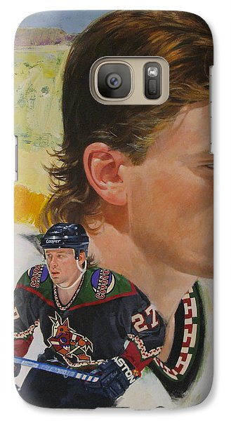 Galaxy Case featuring the painting Teppo Numminen by Cliff Spohn