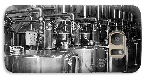 Galaxy Case featuring the photograph Tequilera S.s. Distillation Tanks by Lynn Palmer