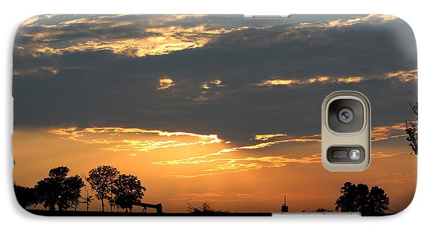 Galaxy Case featuring the photograph Texas Sized Sunset by Kathy  White