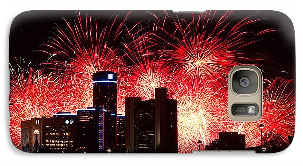 Galaxy Case featuring the photograph The 54th Annual Target Fireworks In Detroit Michigan - Version 2 by Gordon Dean II