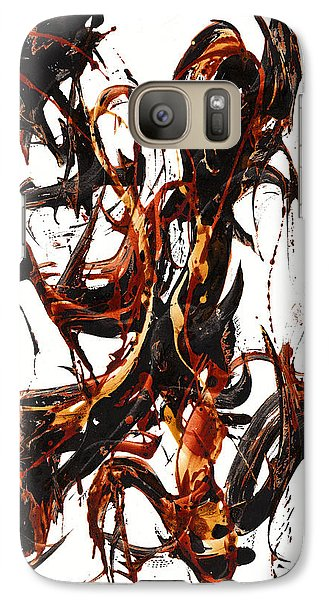 Galaxy Case featuring the painting The Art Of Languishing Liquidly Well  22.120110 by Kris Haas