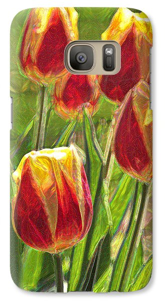 Galaxy Case featuring the photograph The Artful Tulips by Nancy De Flon