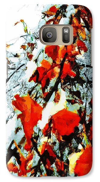 Galaxy Case featuring the photograph The Autumn Leaves And Winter Snow by Steve Taylor