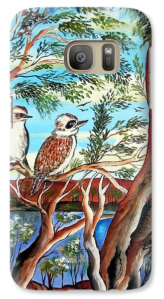 Galaxy Case featuring the painting The Bandit Kookaburra by Roberto Gagliardi