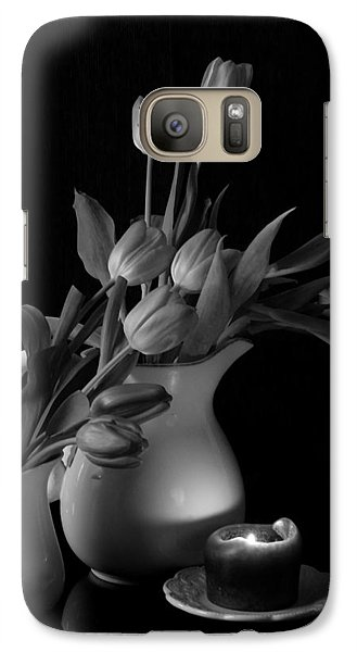 Galaxy Case featuring the photograph The Beauty Of Tulips In Black And White by Sherry Hallemeier