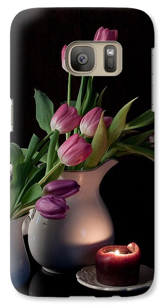 Galaxy Case featuring the photograph The Beauty Of Tulips by Sherry Hallemeier