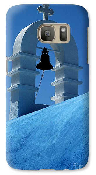 Galaxy Case featuring the photograph The Bell Tower In Mykonos by Vivian Christopher