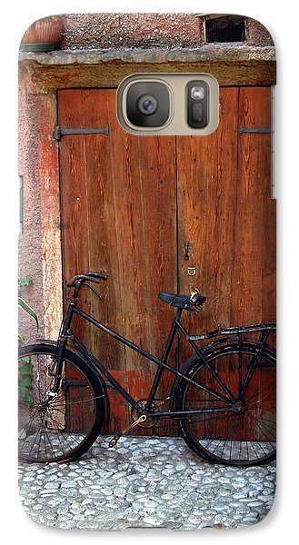 Galaxy Case featuring the photograph The Bicycle by Emanuel Tanjala