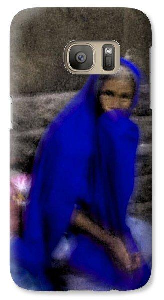 Galaxy Case featuring the photograph The Blue Shawl by Lynn Palmer