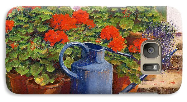 Garden Galaxy S7 Case - The Blue Watering Can by Anthony Rule