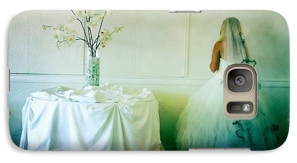 Galaxy Case featuring the photograph The Bride Takes A Moment by Nina Prommer