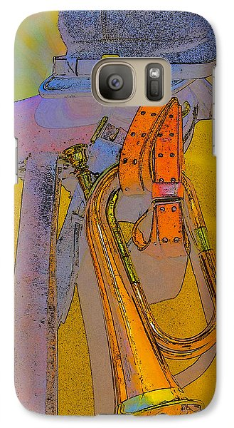 Galaxy Case featuring the photograph The Bugler by Marta Cavazos-Hernandez
