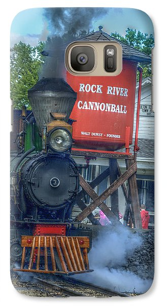 Galaxy Case featuring the photograph The Cannonball Express by Janice Adomeit