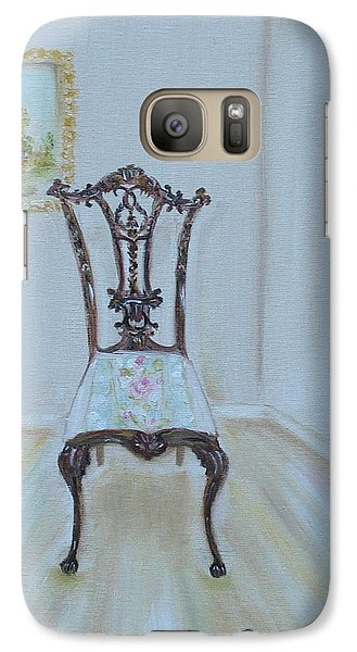 Galaxy Case featuring the painting The Chair by Judith Rhue