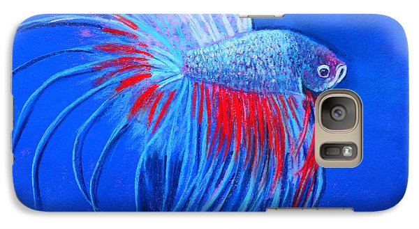 Galaxy Case featuring the mixed media The Closeup by M Diane Bonaparte