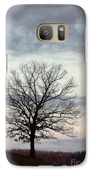 Galaxy Case featuring the photograph The Coming Winter by Laurinda Bowling