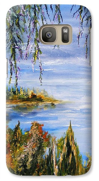 Galaxy Case featuring the painting The Cove by Karen  Ferrand Carroll