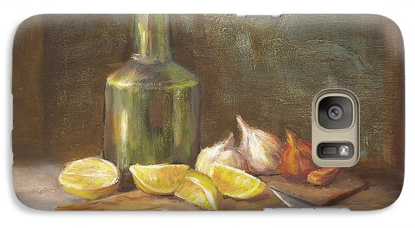 Galaxy Case featuring the painting The Cutting Board by Luczay