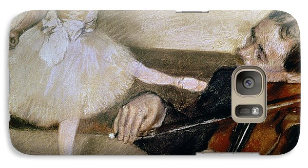 Violin Galaxy S7 Case - The Dance Lesson by Edgar Degas