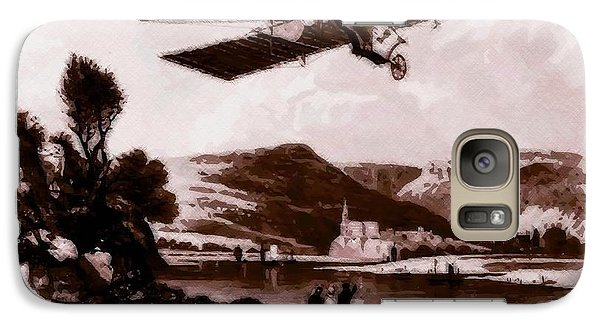 Galaxy Case featuring the drawing The Dream Of Flight by Maciek Froncisz