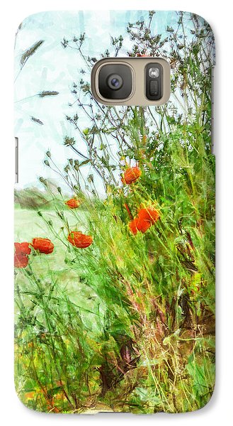 Galaxy Case featuring the digital art The Edge Of The Field by Steve Taylor