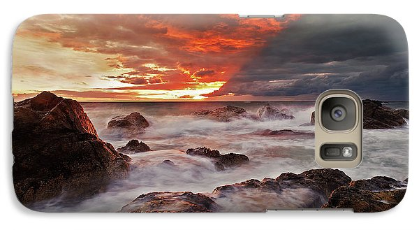Galaxy Case featuring the photograph The Edge Of The Storm by Beverly Cash