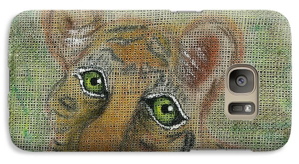 Galaxy Case featuring the mixed media The Eyes Have It by Joy Braverman