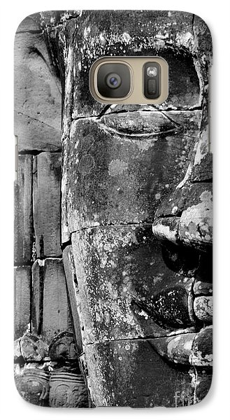 Galaxy Case featuring the photograph The Face Of Angkor by Nola Lee Kelsey