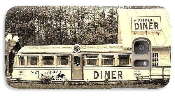 Galaxy Case featuring the photograph The Farmers Diner In Sepia by Sherman Perry