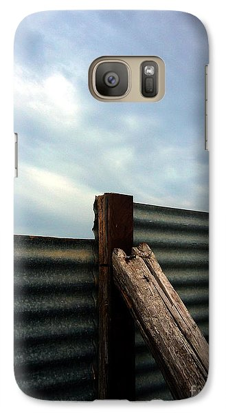 Galaxy Case featuring the photograph The Fence The Sky And The Beach by Andy Prendy