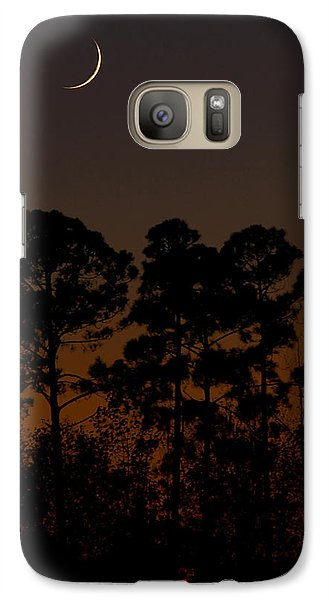 Galaxy Case featuring the photograph The Fingernail Moon by Dan Wells
