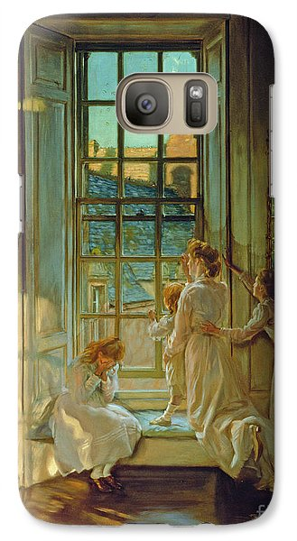Swallow Galaxy S7 Case - The Flight Of The Swallows by John Henry Lorimer