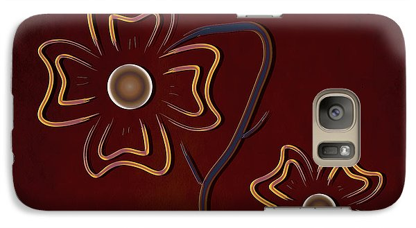 Galaxy Case featuring the digital art The Flowers  by Milena Ilieva