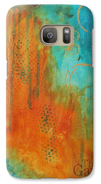 Galaxy Case featuring the painting The Garden by Nicole Nadeau