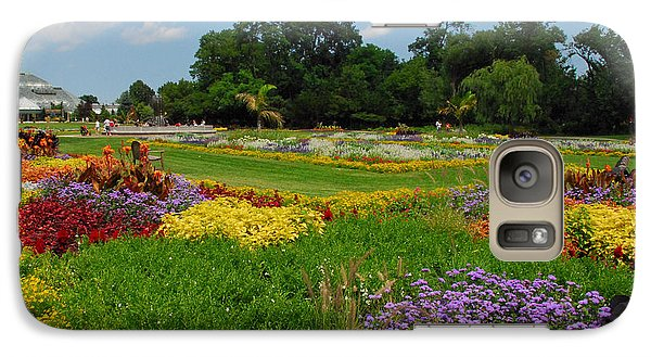 Galaxy Case featuring the photograph The Gardens Of The Conservatory by Lynn Bauer