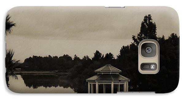 Galaxy Case featuring the photograph The Gazebo At The Lake by DigiArt Diaries by Vicky B Fuller