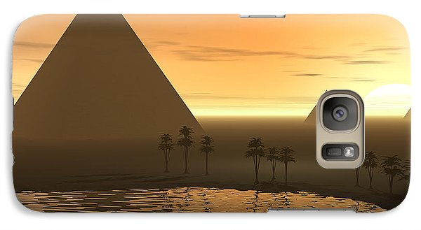 Galaxy Case featuring the digital art The Giza Necropolis by Phil Perkins