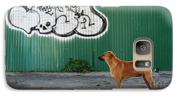 Galaxy Case featuring the photograph The Graffiti Artist by Nola Lee Kelsey