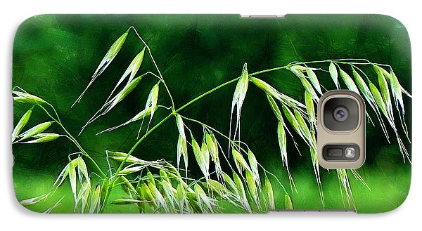 Galaxy Case featuring the photograph The Grass Seeds by Steve Taylor