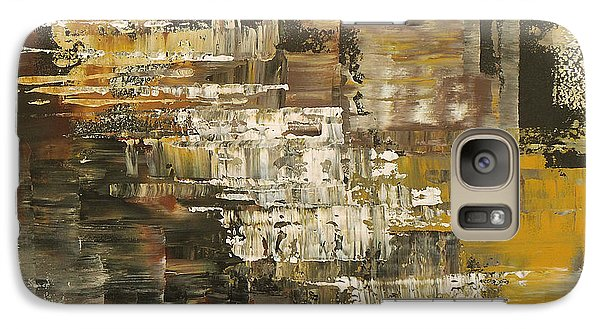 Galaxy Case featuring the painting The Gravelpit Code by Tatiana Iliina
