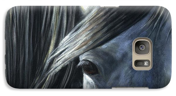 Galaxy Case featuring the painting The Grey by Sheri Gordon