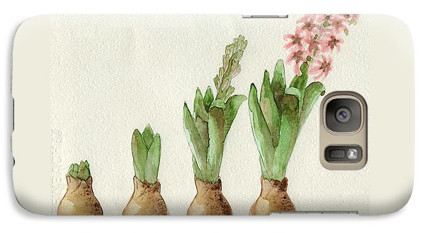 Galaxy Case featuring the painting The Growth Of A Hyacinth by Annemeet Hasidi- van der Leij