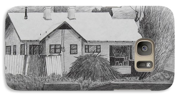 Galaxy Case featuring the drawing The House Across by Kume Bryant