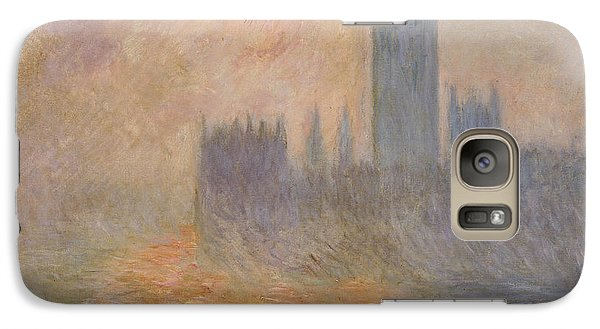The Houses Of Parliament At Sunset Galaxy S7 Case by Claude Monet