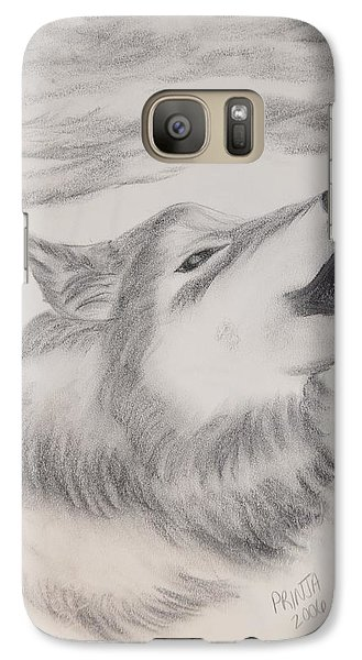 Galaxy Case featuring the drawing The Howler by Maria Urso