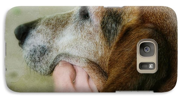 Galaxy Case featuring the photograph The Human Touch by Joan Bertucci