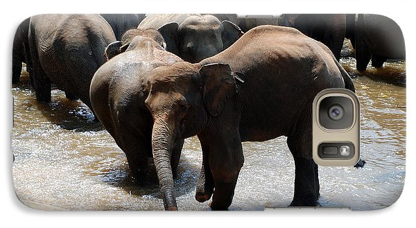 Galaxy Case featuring the photograph The Hurt Elephant by Pravine Chester