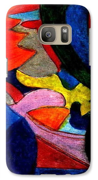 Galaxy Case featuring the mixed media The Indian - Luke At Age 6 by Ray Tapajna